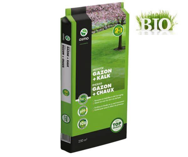 engrais gazon bio avec chaux 2 en 1 pour un gazon vert. Black Bedroom Furniture Sets. Home Design Ideas