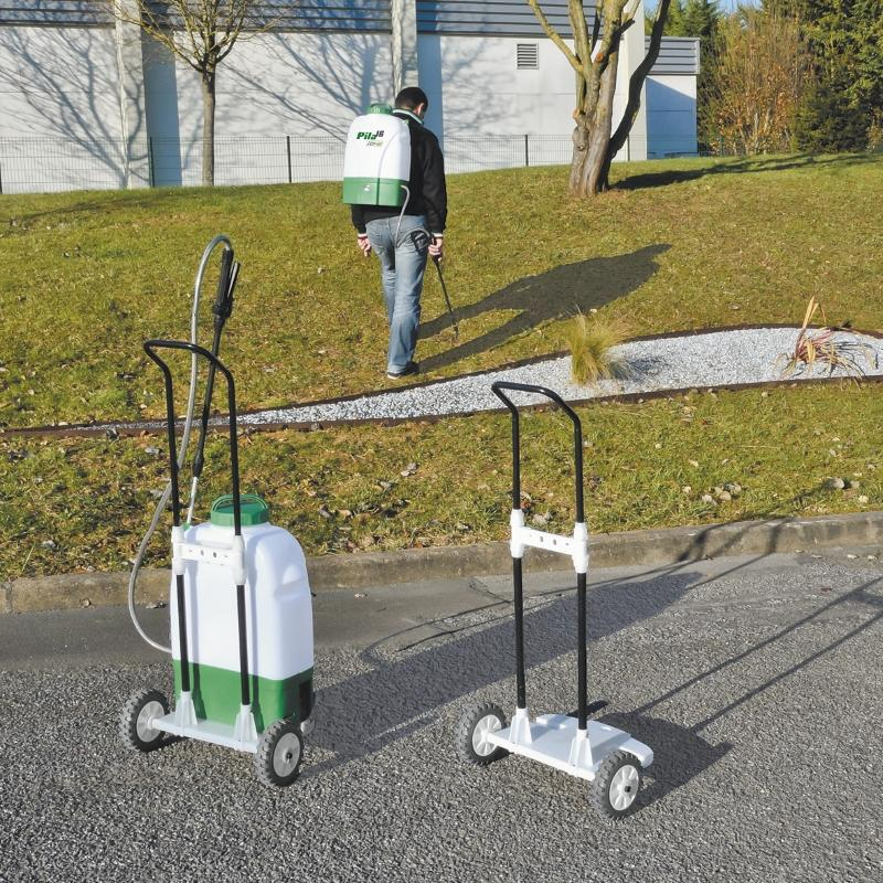 Pulv risateur lectrique 16 litres sur roues et dos gazoneo - Pulverisateur de jardin electrique ...