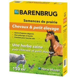 Semence prairie chevaux et petit élevage Horse master Barenbrug boite de 1,5 kg pour couvrir 150 m²